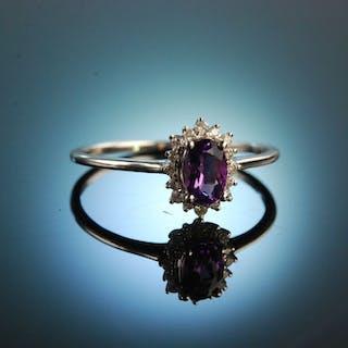 For you! Klassischer Diamant Verlobungs Freundschafts Ring Gold 750