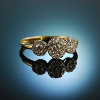 Say yes! Wundervoller Verlobungs Engagement Ring Gold 750 Brillanten 0,55 ct