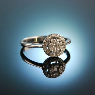 My Dearest! Verlobungs Engagement Ring Weiß Gold 750 Brillanten und Diamanten