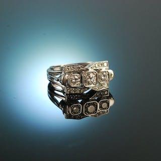 Vintage um 1970! Feinster Brillant Ring 0,9 ct Weiß Gold 750