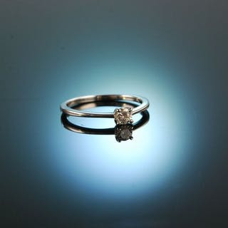 Marry me! Klassischer Verlobungs Ring Brillant 0,2 ct Weißgold 750