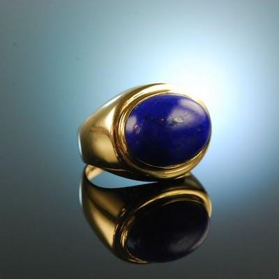 Handarbeit um 1990! Edler Lapislazuli Ring Gold 750