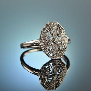 My one and only! Hübscher Verlobungs Ring Brillanten 0,15 ct Weiß Gold 750