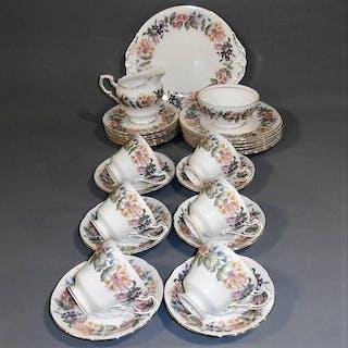 Paragon Bone China Country Lane Tea Set for Six
