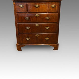 Queen Anne walnut chest, with canted corners