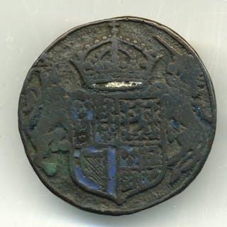 James 1, Armorial Bronze and Enamel Boss