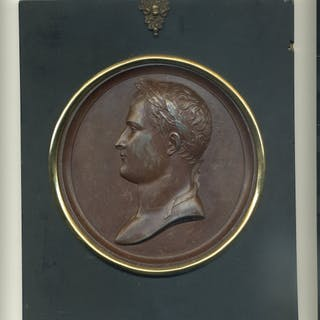 Napoleon and Josephine, a Pair of Portrait Plaques
