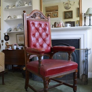 Queen Victoria, Carved Ceremonial Oak Chair