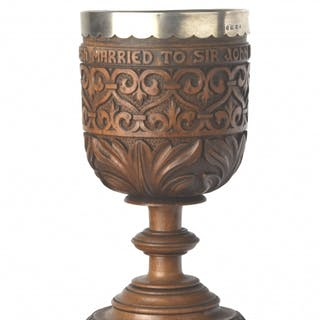 Shakespeare Related,Walnut Chalice, Made from Wood from Billesley Churchyard