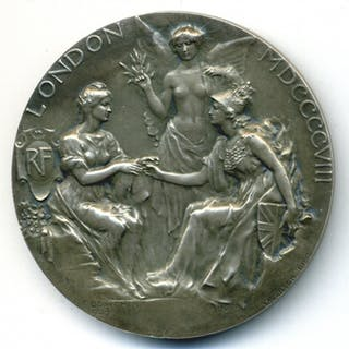 London, White City, Franco British Exhibition, Prize Medal