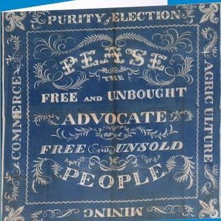 Darlington Election Linen Banner, 1832, Greeting Card
