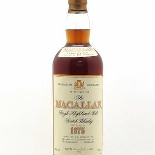 Whisky Macallan 18 year old Single Highland Malt Scotch 1975