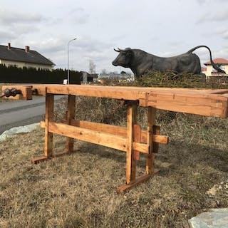 praktische Hobelbank, Werkbank, Esstisch, Schreibtisch, Designertisch - W1516