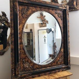bronzener Wandspiegel Spiegel Barock Stil geschliffen - X1844