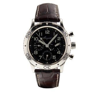 Breguet Aeronavale Automatic Self Wind Flyback Chronograph Mens watch 3800ST