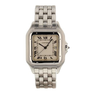 Cartier Panthere Jumbo Steel 29 mm Quartz Vintage Watch 130000C Mint