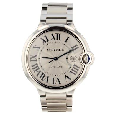 Cartier Ballon Bleu Steel Automatic 42 mm Silver Mens Watch W69012Z4