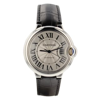 Cartier Ballon Bleu Steel 36 mm Medium Model Automatic Watch W69017Z4 Mint