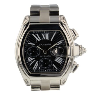 Cartier Roadster Chronograph Automatic Self Wind W62020X6 Mens Watch