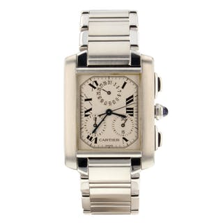 Cartier Tank Francaise Chronoflex Quartz W51001Q3 Ladies Watch