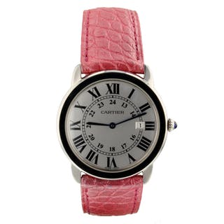 Cartier Ronde Solo Steel 36 mm Quartz Medium Model Watch W6700255 Mint