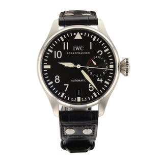 Mint IWC Big Pilot 7 Days Steel Automatic 46 mm Black Watch IW501001