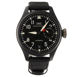 IWC Big Pilot Watch Top Gun Black Ceramic 48mm Power Reserve Watch