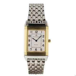 Jaeger LeCoultre Reverso Classique Steel 18K Yellow Gold Watch 250.5.08