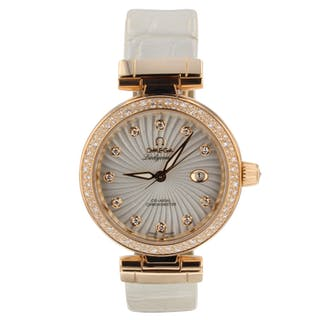 Omega De Ville Ladymatic 18K Rose Gold 34 mm Automatic Watch 425.