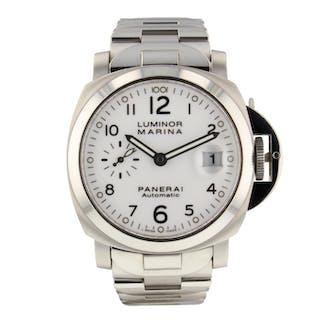 Panerai Luminor Marina Steel 40 mm Automatic White Watch PAM00051 PAM 51 Mint
