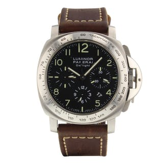Panerai Luminor Daylight Chronograph 44mm Steel Automatic Watch PAM00236