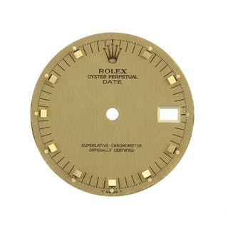 Rolex Parts & Accessories Mens Date Gold Dial Applied Square Hour