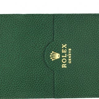 Rolex Parts & Accessories Brochure Green Leather Card Holder
