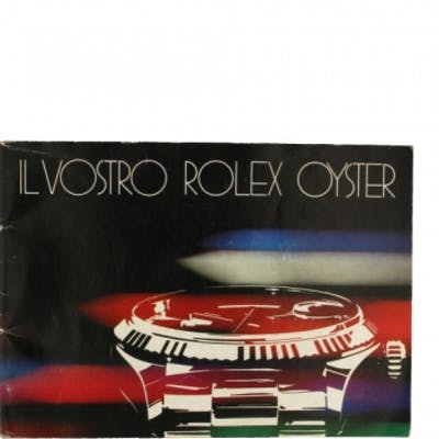 Rolex Parts & Accessories Brochure Il Vostro Rolex Oyster with Colorful Front