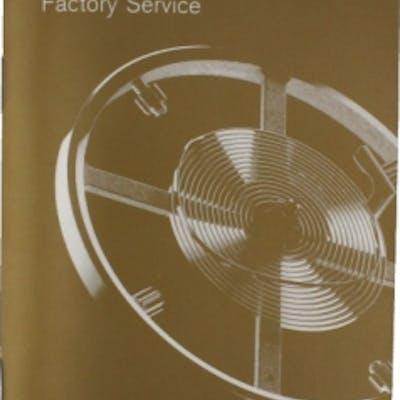 Rolex Parts & Accessories Brochure Rolex Gold Factory Service Booklet