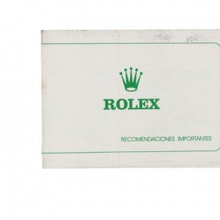 Rolex Parts & Accessories Brochure Rolex White Recomendaciones Importantes