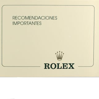 Rolex Parts & Accessories Brochure Rolex Yellow Recomendaciones Importantes