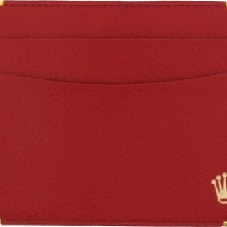 Rolex Parts & Accessories Brochure Vintage Red Leather Warranty Holder