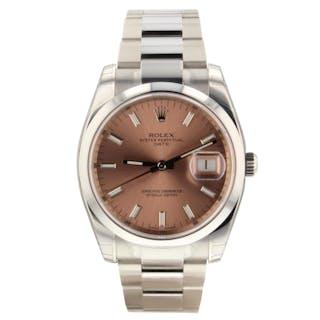 Rolex Datejust 36 mm Steel Automatic Pink Sticks Dial Watch 116200