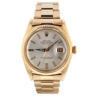 Rolex Vintage Datejust 36 mm 18K Rose Gold Watch 1601 Circa 1968