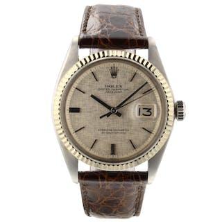 Rolex Datejust 36 mm Steel White Gold Bezel Silver Watch 1601 Circa 1973 Mint