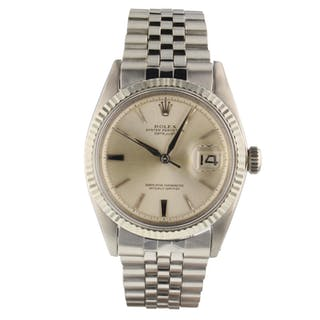 Rolex Mens Datejust 36 mm Steel Automatic Jubilee Silver Watch 1601 Circa 1963