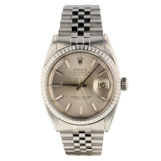 Rolex Datejust 36 mm Steel Automatic Jubilee Watch 1601 Circa 1966