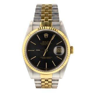 Rolex Datejust 36 mm Two Tone Steel Yellow Gold Jubilee Watch 16233 Series T