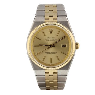 Rolex Datejust Two Tone 36 mm Vintage Rare Steel and 18K Yellow Gold Watch 1630