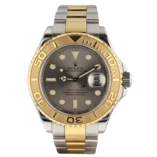 Rolex Yacht Master Steel 18K Gold 40 mm Automatic Watch 16623 Papers Serial M