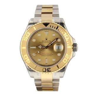 Rolex Yacht Master 40 mm Steel 18K Yellow Gold Champagne Watch 16623 Stickers