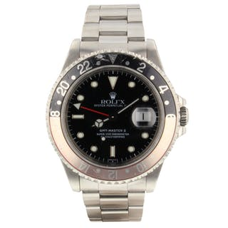 Rolex GMT Master II Coke Bezel Steel Automatic Watch 16710 Circa 1997 U Series