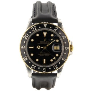 Rolex GMT Master Steel Yellow Gold 40mm Automatic Jubilee Watch 16753