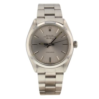 Rolex Air King Precision Steel Automatic Silver Oyster Watch 5500 Circa 1982